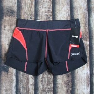 NWT Zoot Red & Black Athletic Shorts Size XS
